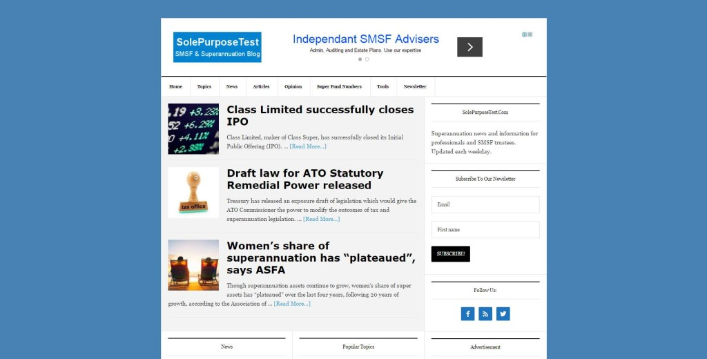 SolePurposeTest.com - SMSF & Superannuation Blog